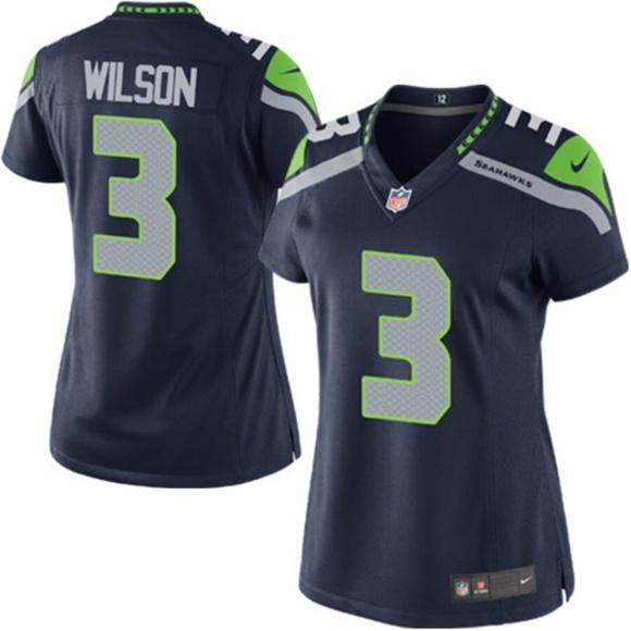 online store 30528 69f27 Women's Seattle Seahawks Russell Wilson Jersey NWT